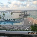 Another view of the pool dock and breakwater from our porch