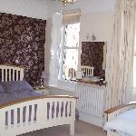 Our twin room - spacious dbl & single bed.