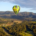 In flight over the Hunter Valley