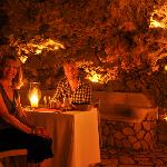 Private dinner in cave