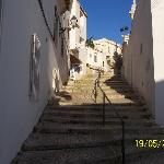 steep steps after a night out,to get back to casa mitchell
