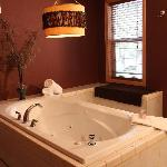 Relax in your 2 person Jacuzzi Spa at Pine River Ranch Bed and Breakfast
