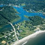 The Beach on one side - Kennebunk River on the other