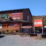 OUtside our Lodge: We have a homestyle resturant serving breakfast, lunch dinner & beer.  We als