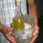 The home made limoncello delivered to our room!