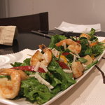 Prawns and scallops salad