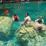 Crystal clear water of Kayangan Lake