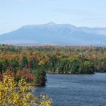 North from the hotel off #95 is a scenic view of Mt. Katahdin