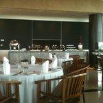the buffet set up