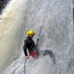 showering waterfalls