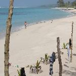 Lalomanu Beach from restaurant at Taufua Beach Fales