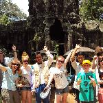 A fun day out at Angkor Watt with our tuk tuk drivers from the guesthouse