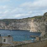 Xlendi Cliffs from the roof sun terrace