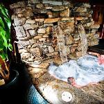 Rock Waterfall Hot Tub