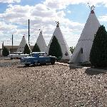 A view of some of the wigwams