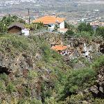 Vue de La Finca et du restaurant dans la montagne