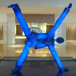 illuminated sculpture in reception