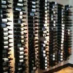 One of the many wine walls