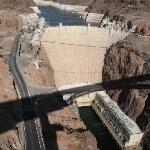 The Hoover Dam from on top the Bypass