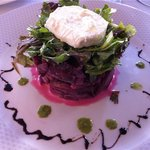 A smaller version of the beet salad, they split it for us.