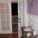 Door to Private Porch off the Lilac Room