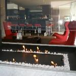 Hotel Foyer with Fireplace & Bar