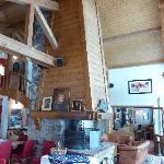 The main guest area inside Au Coin du Feu