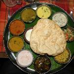 Thali meal at restaurant in hotel