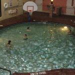 The big kids played pool ball.