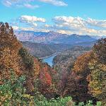 Fontana Lake from overlook on The Road To Nowhere