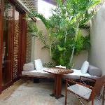 private patio lounge area