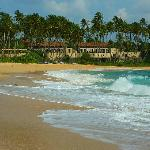picture of Amanwella resort from it's private beach