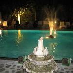 The pool at night. Nice!