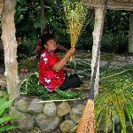 Coconut Palm Frond Weaver