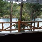 Vista desde el deck de la cabaña