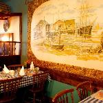 Mural in the restaurant