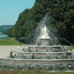 Fountain in front Schloss Herrenchiemsee