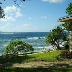 All resort villas face the sea