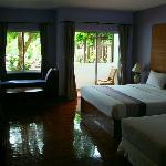 A standard room with direct access to the pool.