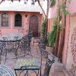 la terrasse, mon endroit préféré pendant le séjour;