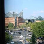 View of TN Aquarium from hotel room
