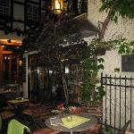 charming courtyard restaurant