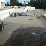 vue de la terrasse du couloir des chambres