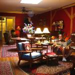 The comfy lounge area