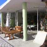 tres bel aménagement de la terrasse
