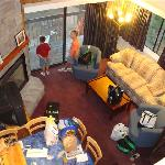 Overall living area as seen from loft