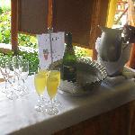 mimosas center -entrance of buffet