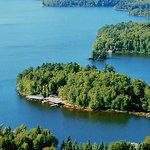 Ludlow's Island Resort is a private, five-acre island on Lake Vermilion in northern Minnesota.