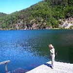 vista parcial del lago lacar, a 200 mts del  Hotel