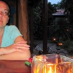 My wife and I dining at Jungle Love